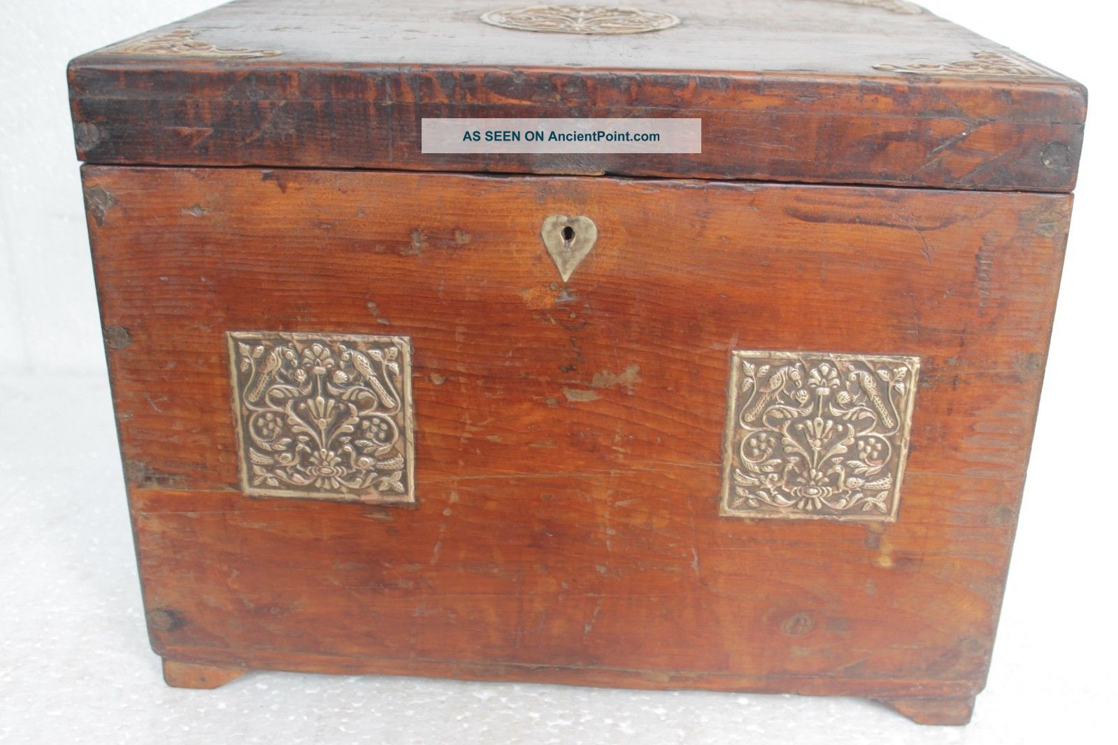 Antique Restored Wooden Handmade Secret Opening Box Many Compartments Boxes Photo 2