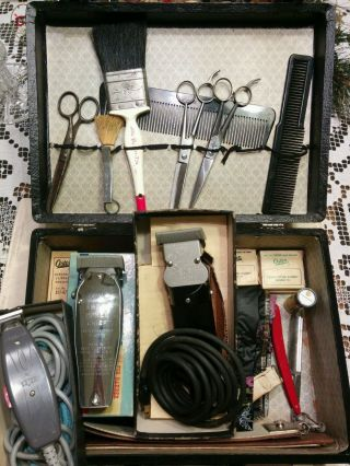 Barber Set: Red Imp,  Clippers: Andis Master M2l,  Edjer Ae,  Oster Progienic 111 photo