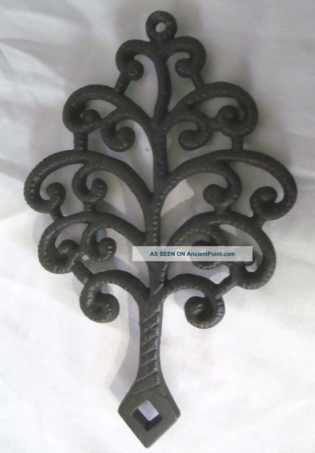 Vintage Cast Iron Trivet Family Tree Footed Hot Plate Signed Jzh Stamp 1951 13 Trivets photo