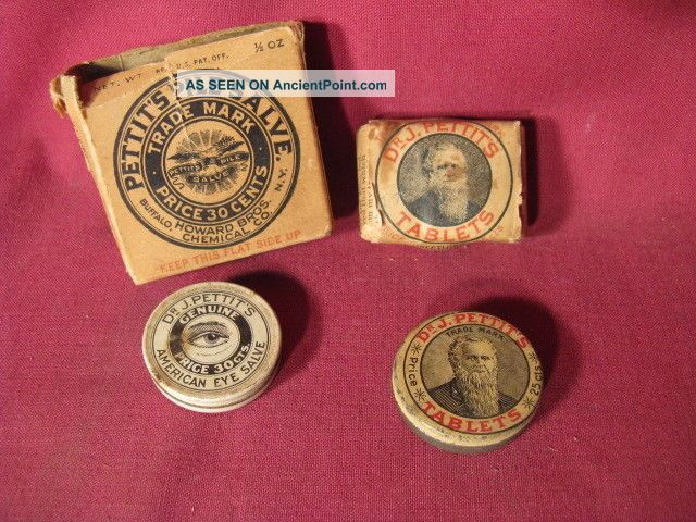 Dr J Pettit ' S Medicinal Advertising Tins Etc Other photo