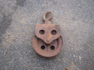 Antique Barn Pulley,  Heavily Weathered photo