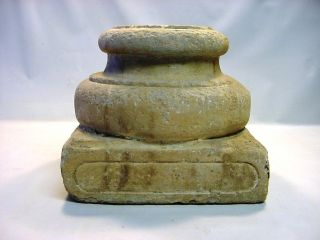Xvii - Xviii Ad Carved Limestone Attic Plinth Column Base photo