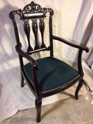 English Arm Chair Antique Mahogany,  Restored1800s Ship Greyhound $79,  Make Offer photo