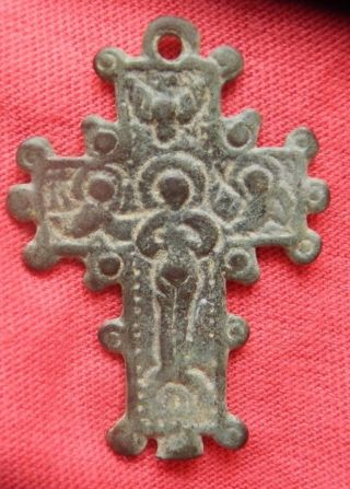 Medieval Christian Cross Pendant photo