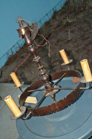 Antique Iron Chandelier photo