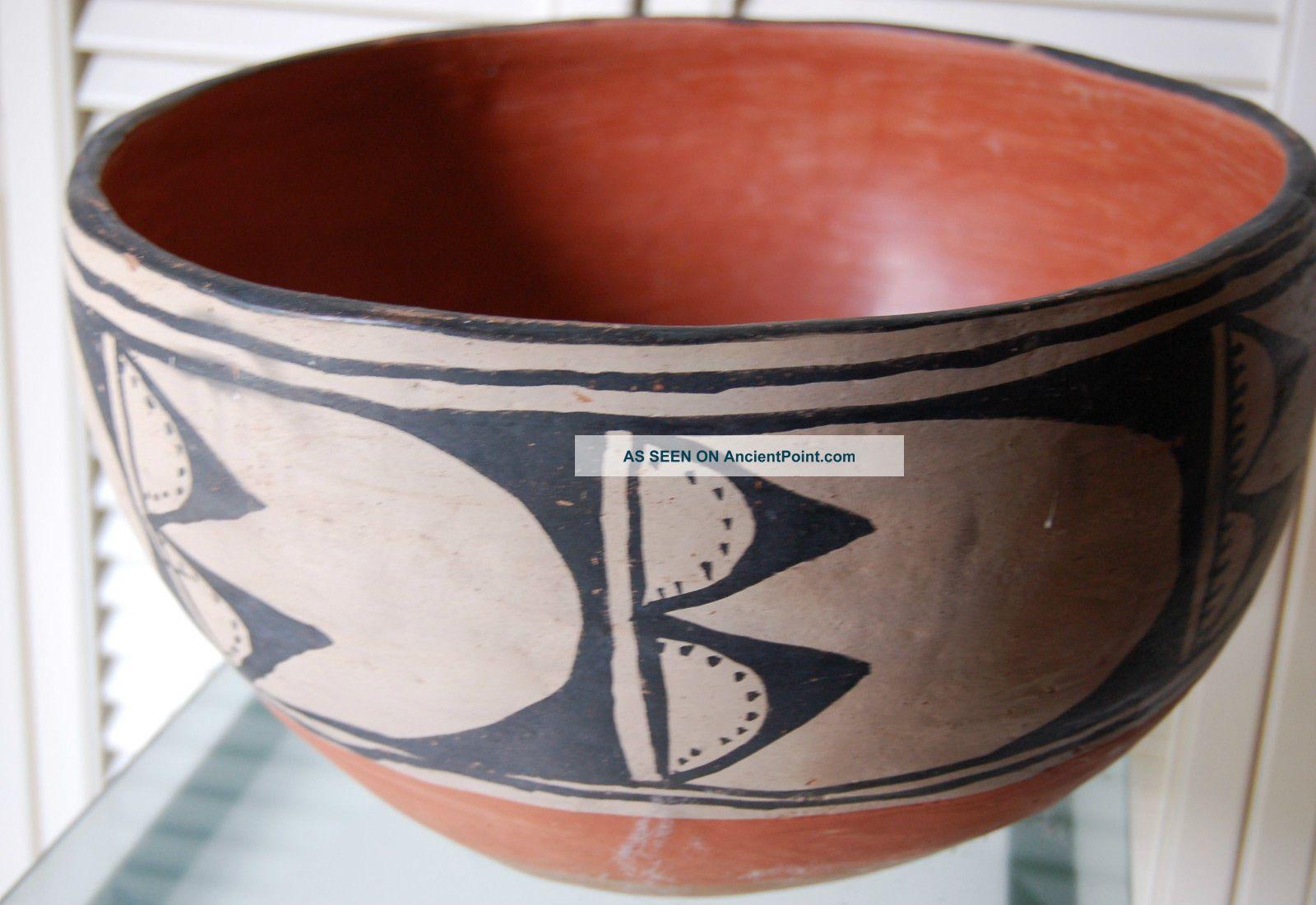 Santo Domingo Dough Bowl Price Lowered Kewa 1950s Handmade Item Native American photo