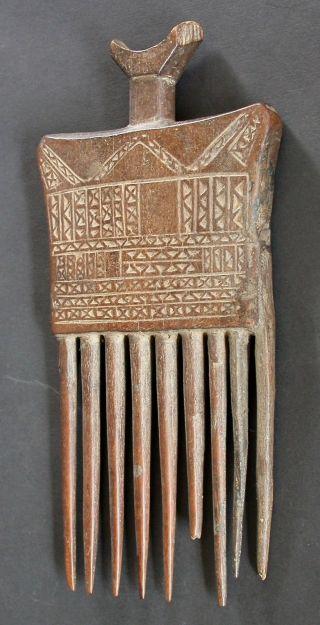 Antique Baule Comb Ivory Coast - Cote D ' Ivoire C.  1910 - 1920 photo