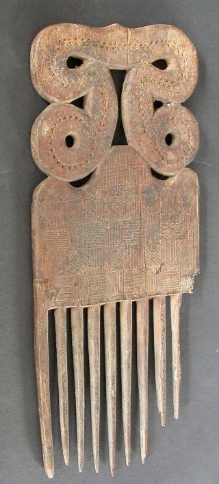 A Large Antique Baule Comb Ivory Coast - Cote D ' Ivoire C.  1910 - 1920 photo