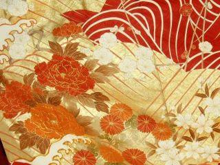 Japan Kimono Furisode Camellia Gs Wedding,  Fine,  Art photo