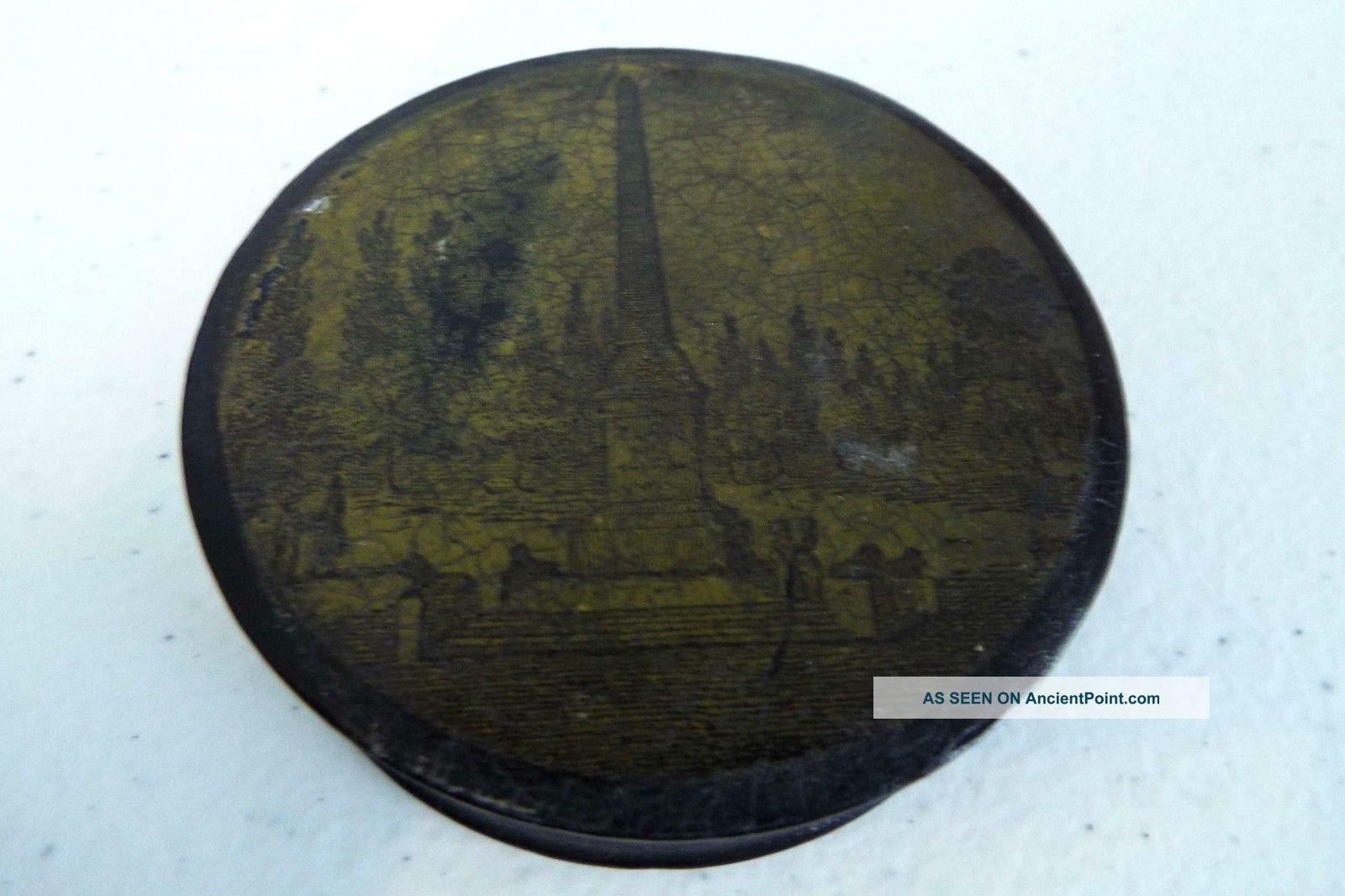 Antique Napoleonic War Era Obelisk Snuff Box European Ca.  1810 Trivets photo