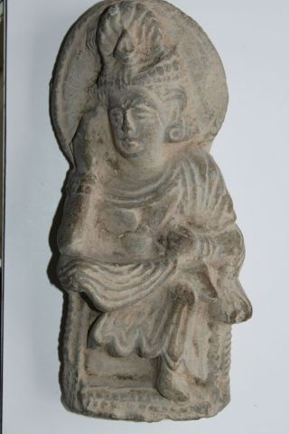 Ancient Indo Greek Buddhist Buddha Figure 200/400 Ad God photo