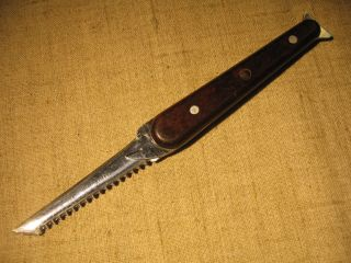 Russian Vintage Folding Fisherman ' S Knife. photo