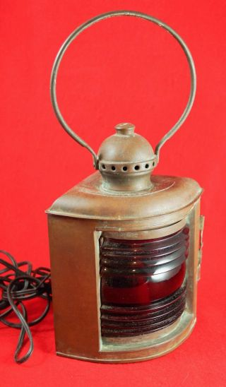 Metal Ship Lantern Port Classes 2 3 Universal Metal Spinning & Stamping Co photo