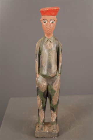 Iv.  Coast: African Old Tribal Baule Figure. photo