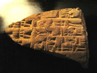 C3000 Bc Ancient Manuscript Clay Tablet Sumerian Cuneiform Paleography Writing photo