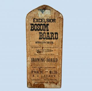Antique Excelsior Bosom Board Ironing Board C1885 Absolutely photo