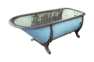 Vintage Zinc & Cast Iron Bathtub photo