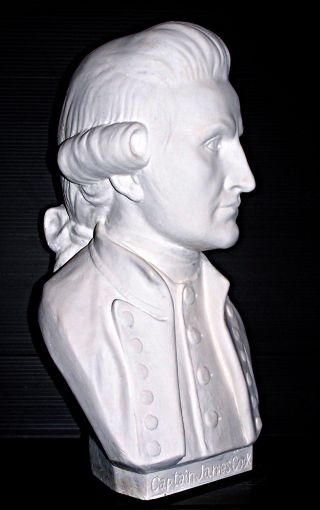 Captain James Cook Australian Sculpture Bust Ltd.  Ed.  32 Cm. . photo
