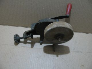 Antique Hand Crank Sharping Wheel photo