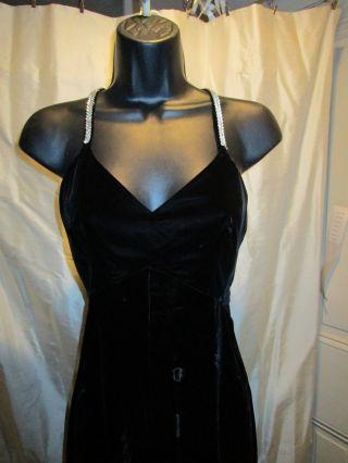 Black Velvet Gown With