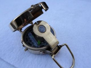 Brass Military Compass Nautical - Camping - Hiking photo