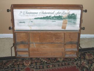 Antique Chautaugua Industrial Art Desk 1913 Power@meyer photo