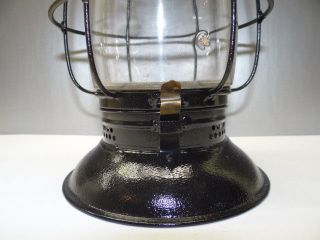 Antique Old Metal Black Buckeye Glass Nautical Maritime Whale Oil Lantern Lamp photo