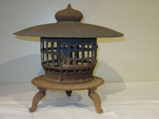 Japanese Antique Iron Garden Lantern Sale 10 % Off photo