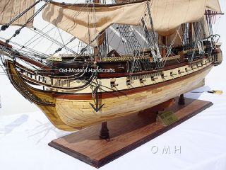 Xl Uss Constitution Wooden Tall Ship Model 59