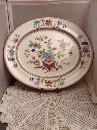 Rare Antique Royal Worcester Porcelain Platter Chinese Asian Theme 1899 photo