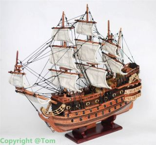 New Le Solei Royal 1669 Wooden Ship Model - Sailing Boat 20