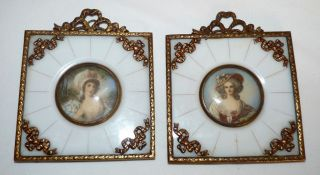 Vintage Hand Painted Miniatures. . photo
