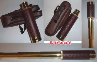 Tasco 25x30 Retractable Brass Nautical Telescope Up To 12 3/4