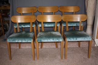 Drexel Precedent Set Of Six (6) Chairs Designed By Edward Wormley - Exceptional photo