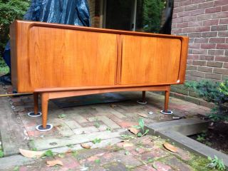 Danish Modern Teak Credenza Sideboard photo