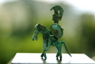 A Fantastic Celtic - Iberian Bronze Horse Rider Warrior photo