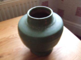 China.  Ming Dynasty 16th/17th Century A Green Glazed Pottery Vase.  Stunning. photo