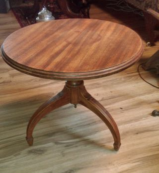 Vintage Table Side End Table Corner Coffee Antique Wood Victorian photo