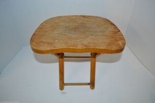 Vintage Nevco Fold ' N Carry Stool Small Wooden Seat Yugoslavia photo
