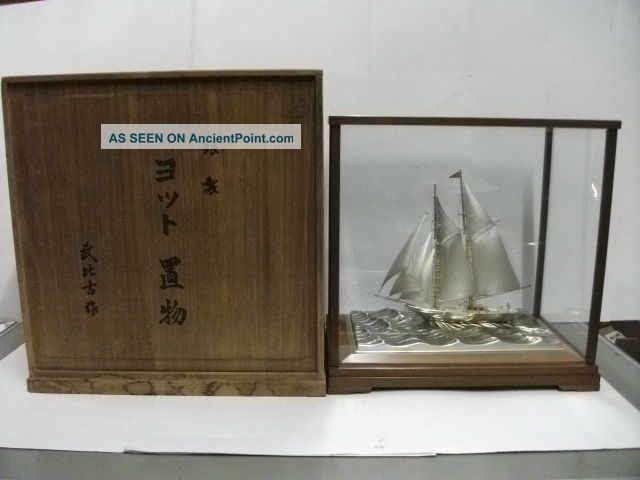 The Silver985 Sailboat.  2 Masts.  197g/ 6.  95oz.  Japan.  A Work Of Takehiko. Other photo