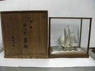 The Silver985 Sailboat.  2 Masts.  197g/ 6.  95oz.  Japan.  A Work Of Takehiko. photo