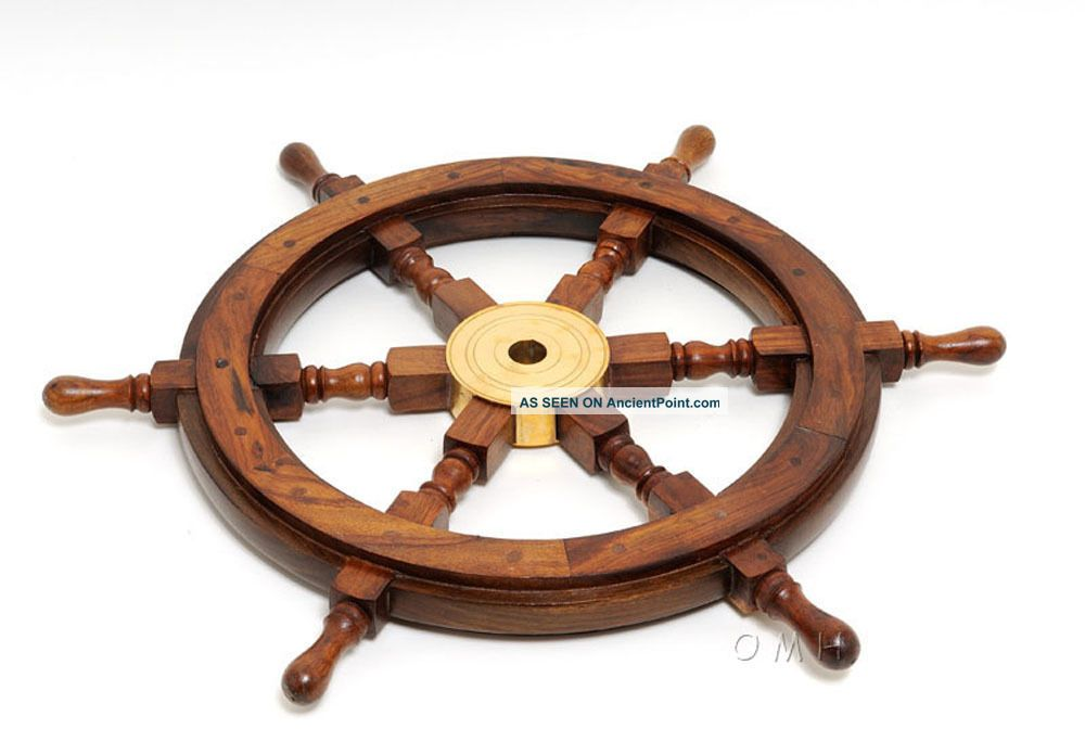 Ship Wheel - 24 Inches Classical Design Authentic Nautical Decor Wheels photo
