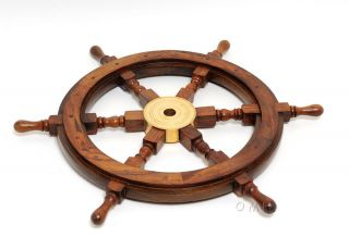 Ship Wheel - 24 Inches Classical Design Authentic Nautical Decor photo
