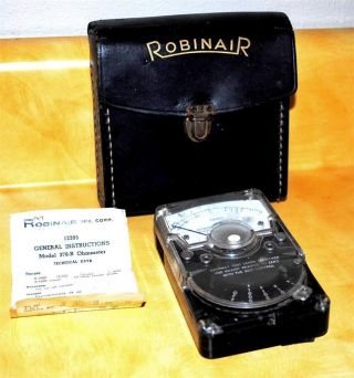 Vintage Robinair Model 378 - R Ohmmeter Montpelier Ohio With Case photo