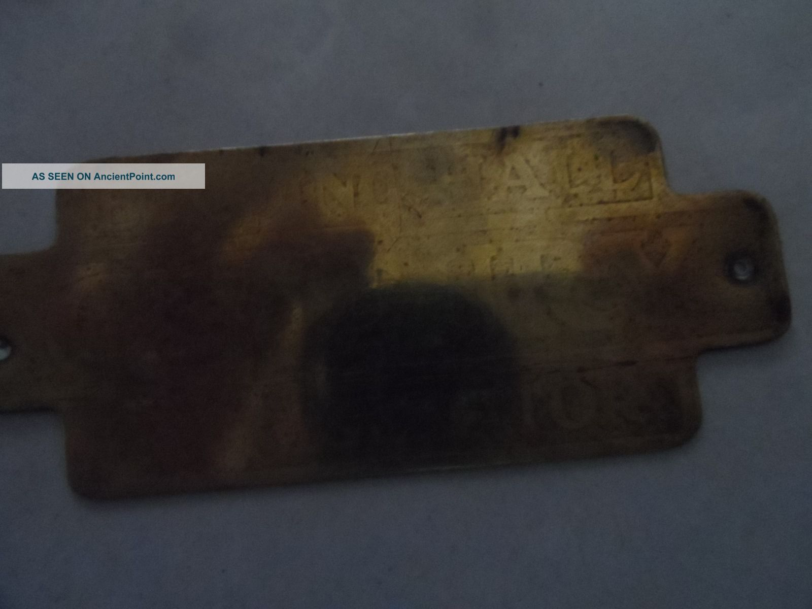 Antique Ice Box Brass Hardware Name Plate Belding Hall Ice Boxes photo