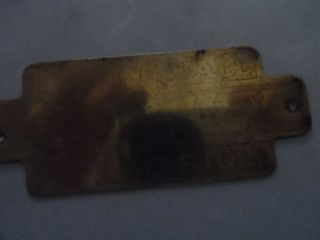 Antique Ice Box Brass Hardware Name Plate Belding Hall photo