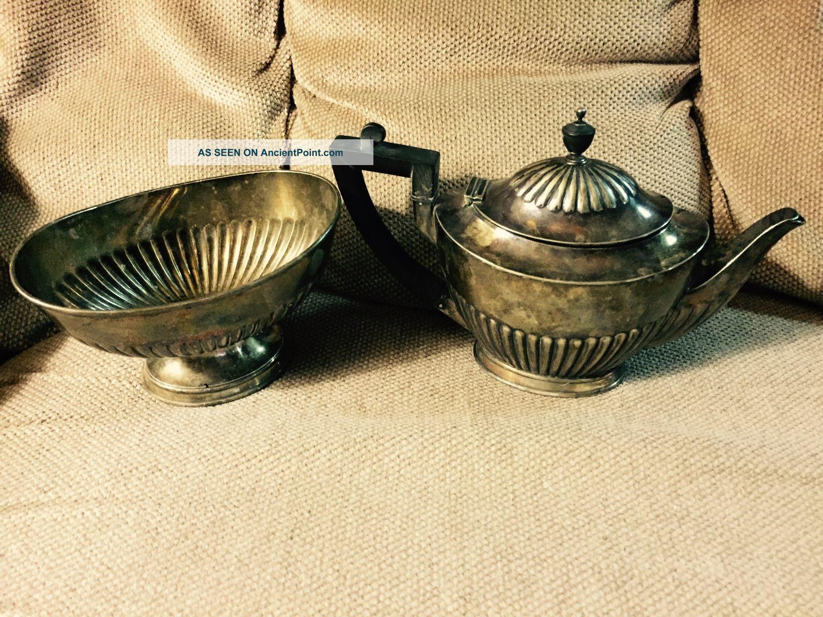 Tiffany & Co.  Silver Soldered Creamer And Sugar Bowl Set Creamers & Sugar Bowls photo