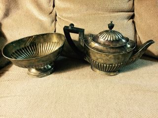 Tiffany & Co.  Silver Soldered Creamer And Sugar Bowl Set photo