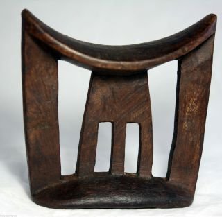 Old Ethiopian Collection Headrest Neckrest Gurage photo