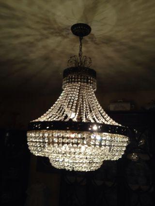 Antique Lighting Vintage Crystal Chandelier Swarovski ? Buy It Now photo